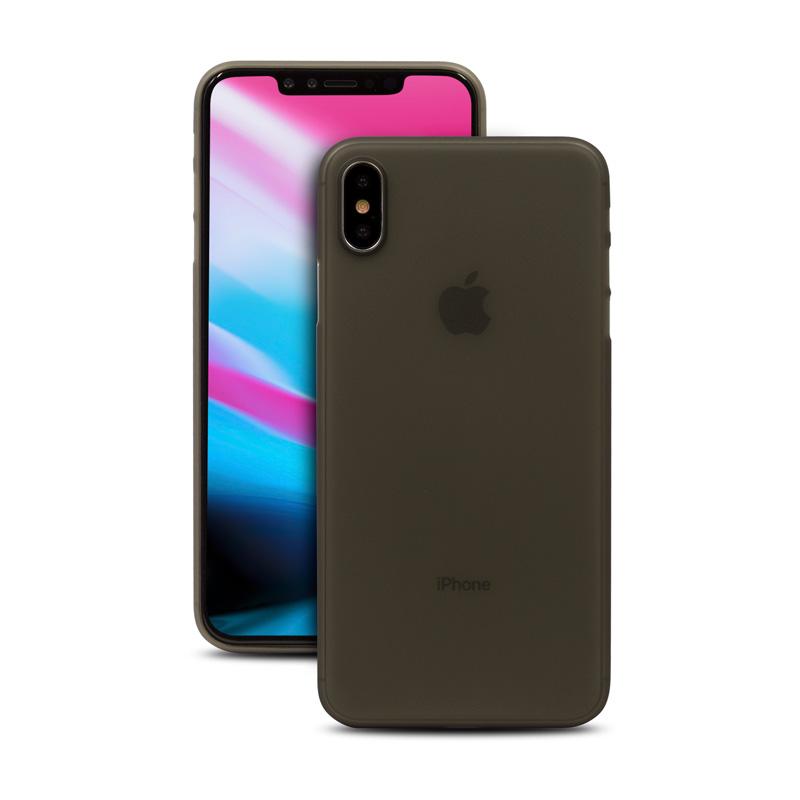 Hard Case für Apple iPhone XS -ID17007 schwarz/durchsichtig - neu