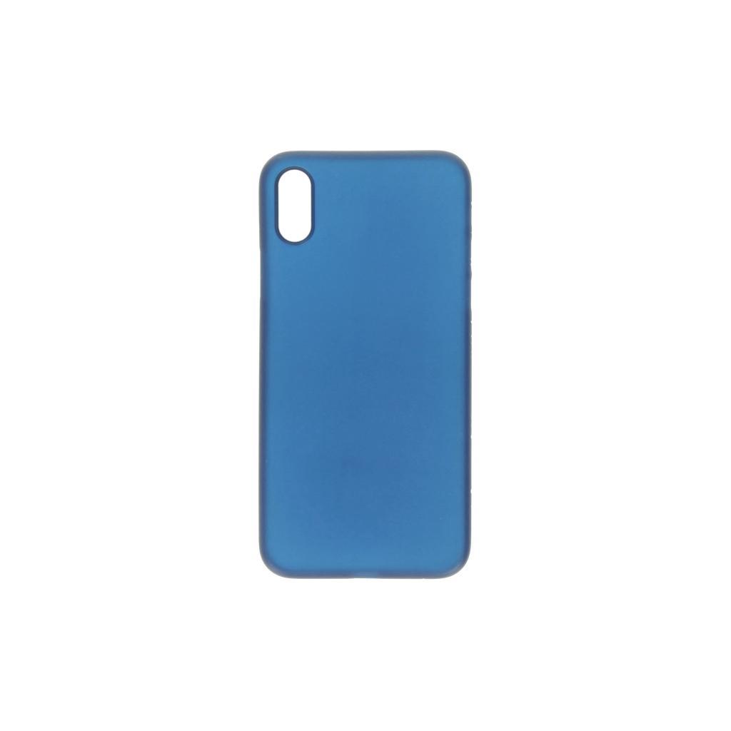 Hard Case für Apple iPhone XS -ID17008 blau/durchsichtig - neu