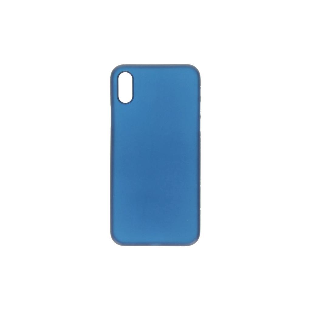 Hard Case für Apple iPhone XS Max -ID17020 blau/durchsichtig - neu