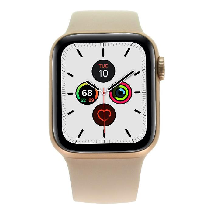 Apple Watch Series 5 Aluminiumgehäuse gold 40mm mit Sportarmband sandrosa (GPS) gold - sehr gut