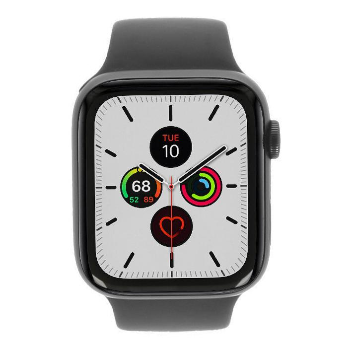 Apple Watch Series 5 - caja de aluminio gris 44mm - correa deportiva negra (GPS) - buen estado