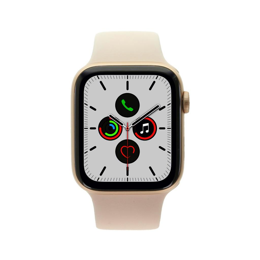 Apple Watch Series 5 Aluminiumgehäuse gold 44mm mit Sportarmband sandrosa (GPS+Cellular) - neu