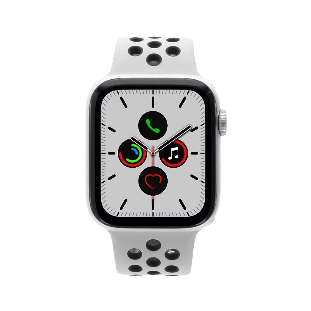 Apple Watch Series 5 Nike+ Aluminiumgehäuse silber 44mm mit Sportarmband platinum/schwarz (GPS) silber - neu