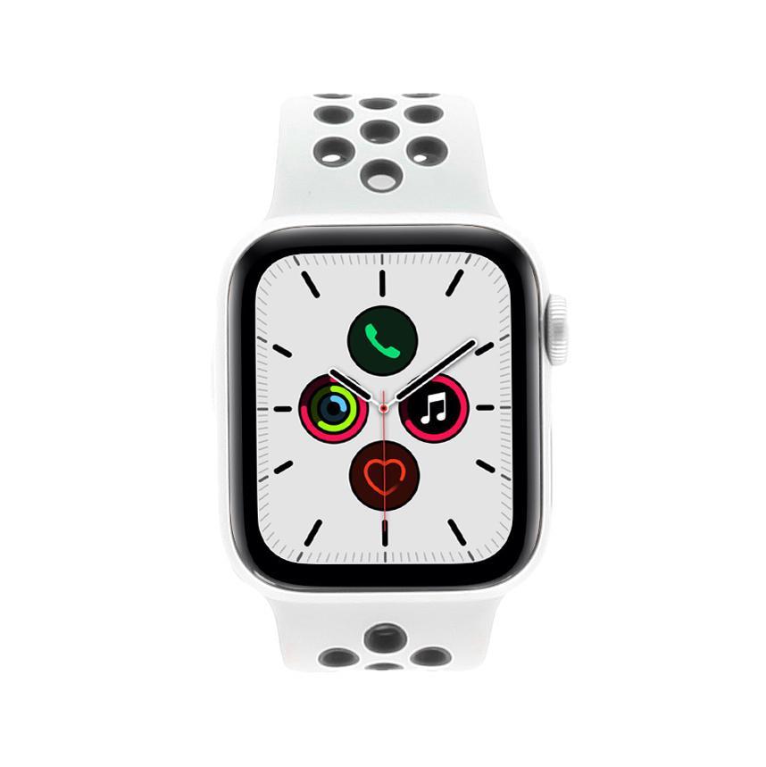Apple Watch Series 5 Nike Aluminiumgehäuse silber 40mm mit Sportarmband platinum schwarz (GPS Cellular) silber