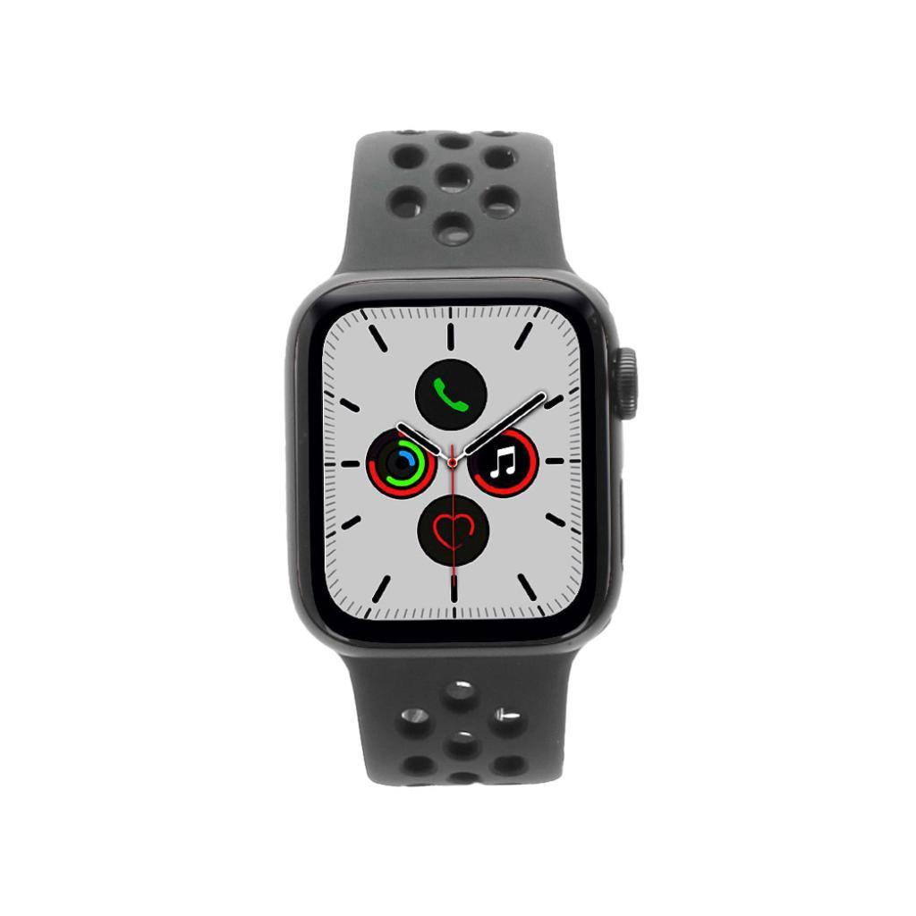 Apple Watch Series 5 Nike Aluminiumgehäuse grau 40mm mit Sportarmband schwarz (GPS Cellular) grau