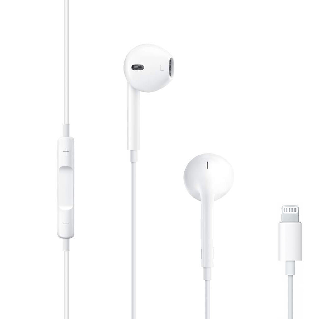 Apple EarPods mit Lightning Connector weiß - gut