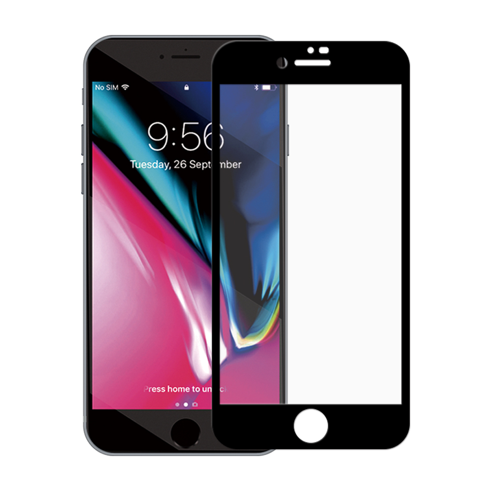Panzerglas für Apple iPhone 7 Plus / 8 Plus -ID 17110 schwarz - gut