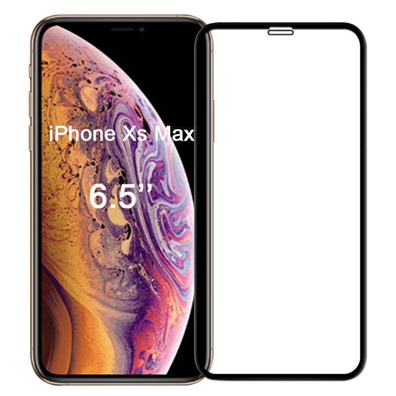 Panzerglas für Apple iPhone XS Max -ID17113 schwarz - neu
