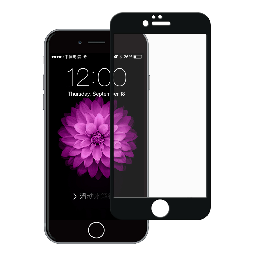 Ultra Panzerglas für Apple iPhone 6 Plus / 6S Plus -ID17120 schwarz - gut
