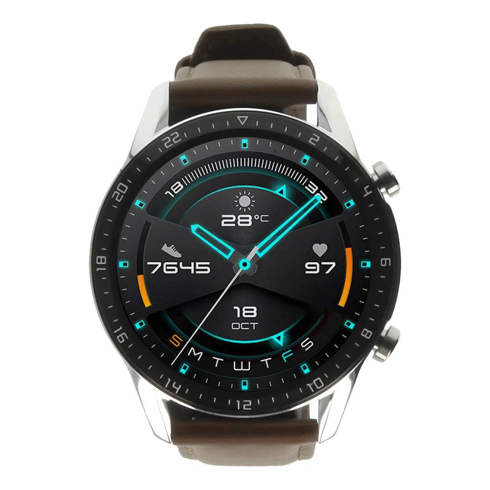 Huawei Watch GT2 Edelstahlgehäuse braun mit Lederarmband braun - neu