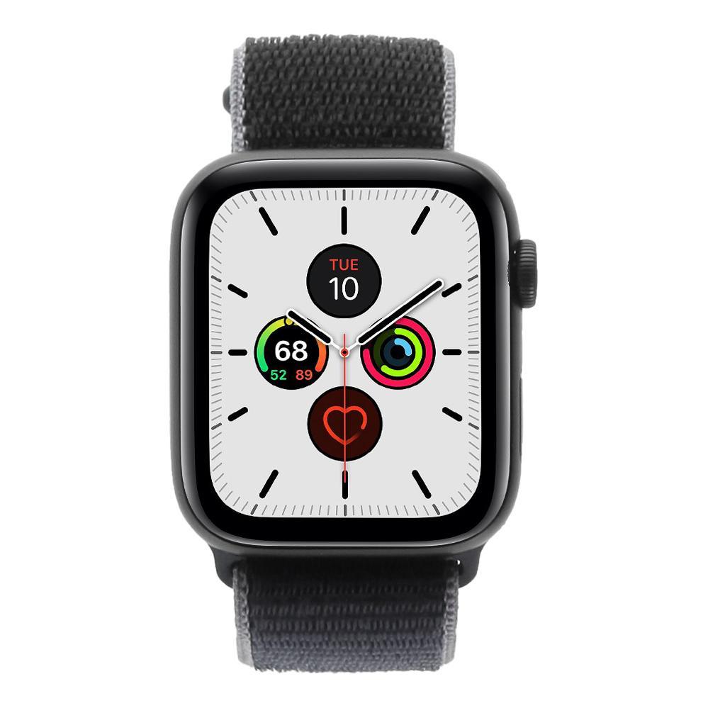 Apple Watch Series 5 Aluminiumgehäuse grau 44mm mit Sport Loop blau (GPS + Cellular) grau - neu