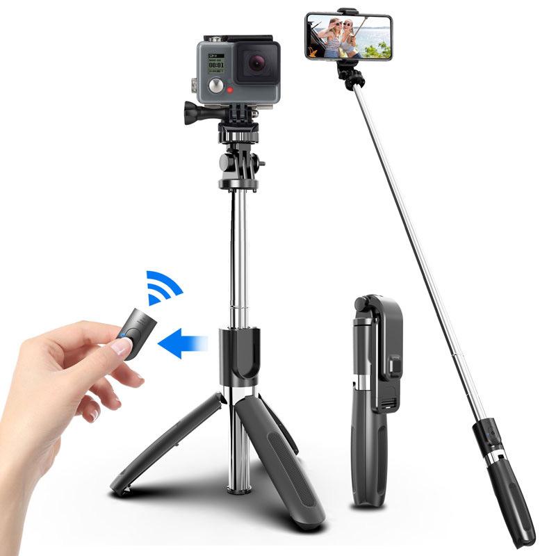 Bluetooth Selfie Stick Stativ -ID17472 schwarz - neu