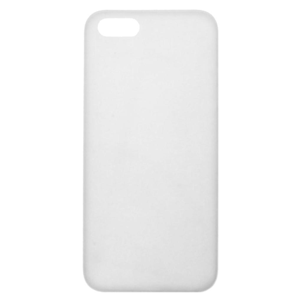 Hard Case für für Apple iPhone SE / 5 / 5S / 5C -ID17504 weiß/durchsichtig - neu