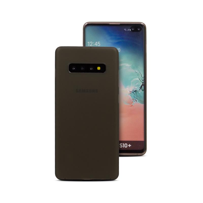 Hard Case für Samsung Galaxy S10 Plus -ID17527 schwarz/durchsichtig - neu