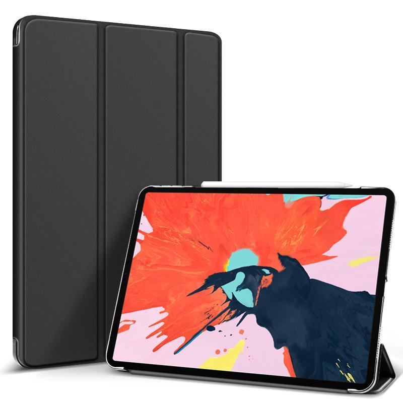 """Flip Cover für Apple iPad Pro 2018 12,9"""" -ID17606 schwarz/durchsichtig - neu"""