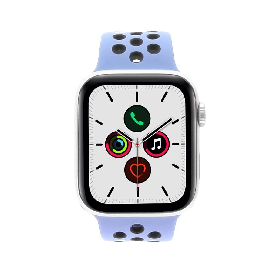 Apple Watch Series 5 Nike+ Aluminiumgehäuse silber 44mm mit Sportarmband royal pulse/schwarz (GPS + Cellular) silber - neu