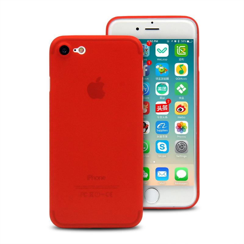 Hard Case für Apple iPhone 7 / 8 / SE (2020) -ID17697 rot/durchsichtig - neu