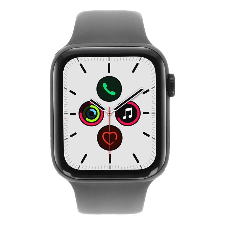 Apple Watch Series 5 Aluminiumgehäuse grau 44mm mit Sportarmband khaki (GPS) grau - neu