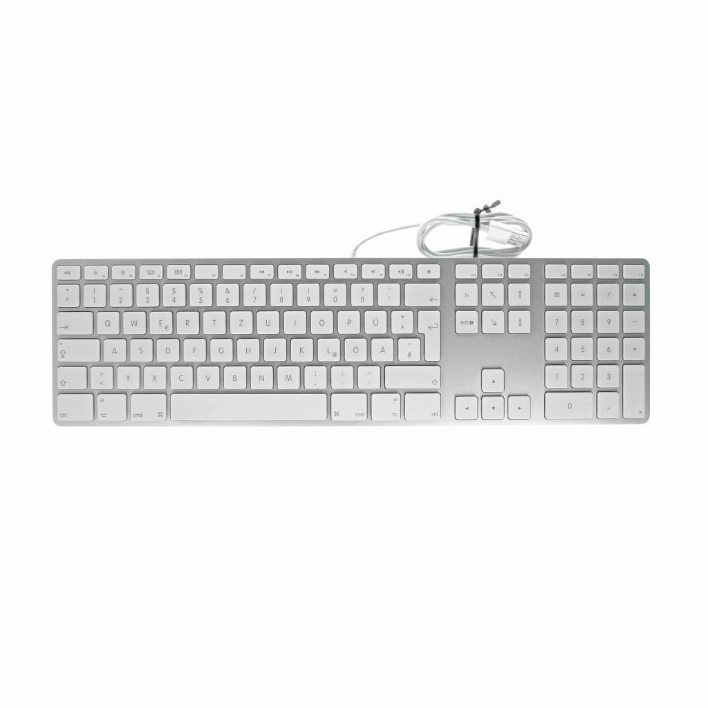Apple Keyboard QWERTZ mit Ziffernblock  (A1243 / MB110D/A) weiß - gut