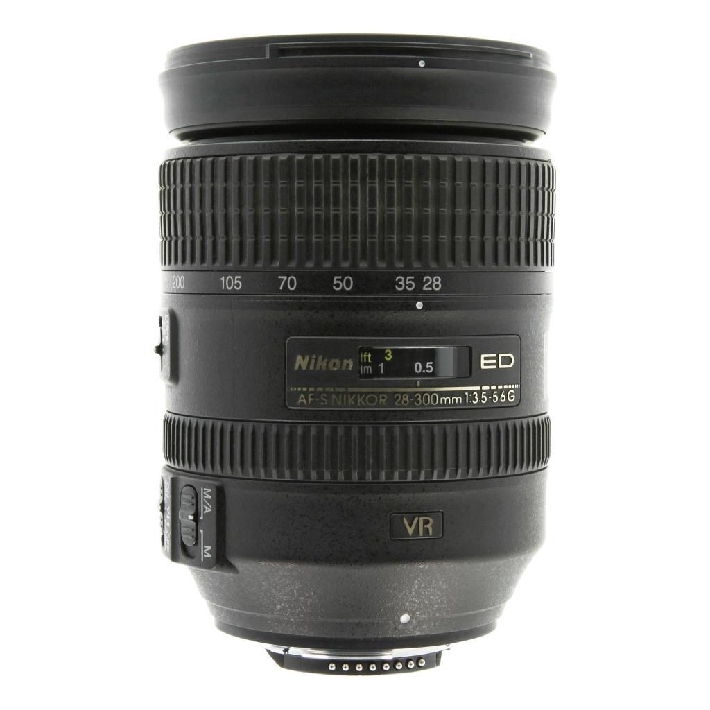 Nikon AF-S Nikkor 28-300 mm F3.5-5.6 SWM Aspherical VR G ED objectif noir - Neuf