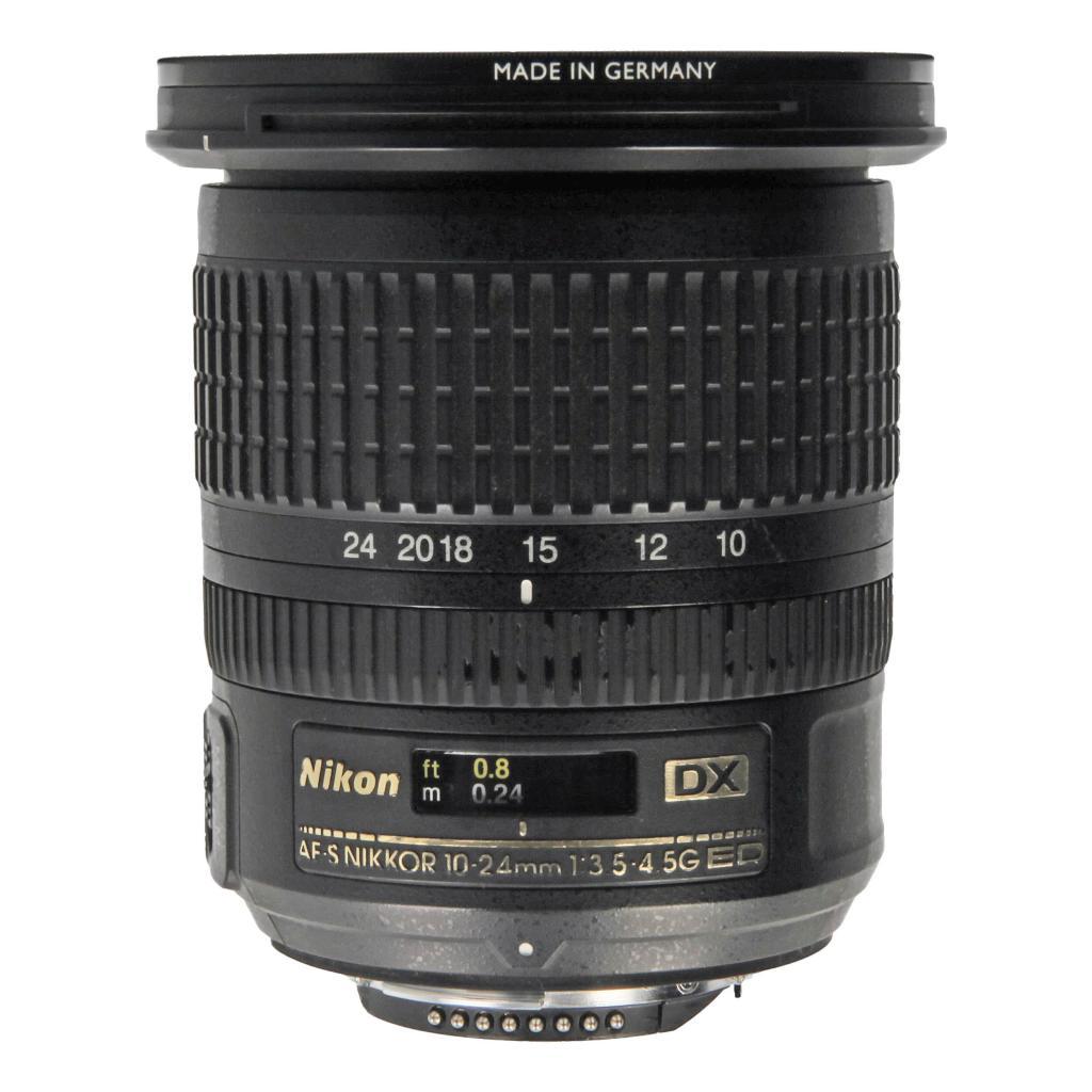 Nikon AF-S Nikkor 10-24mm 1:3.5-4.5G ED DX negro - nuevo