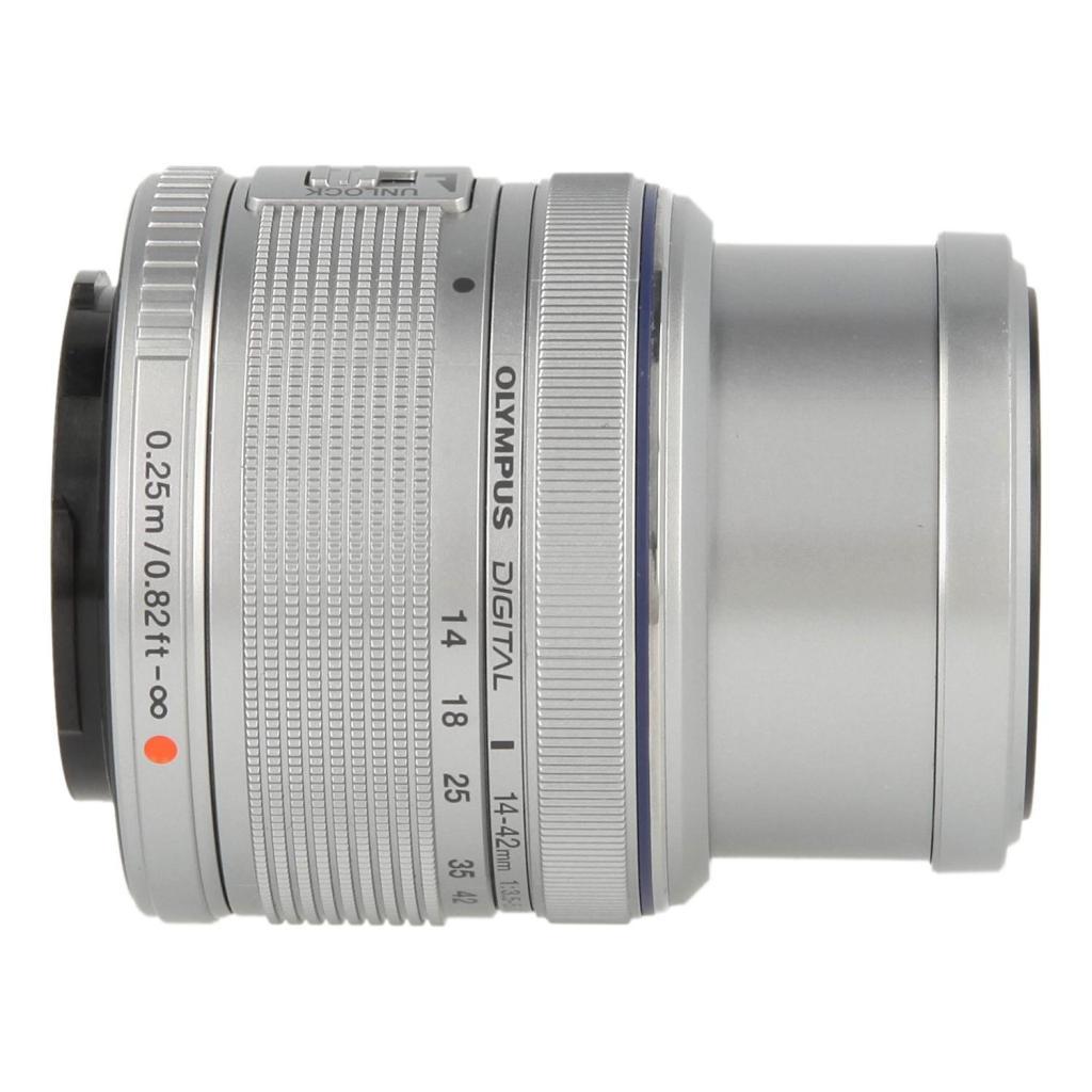 Olympus Zuiko Digital 14-42mm 1:3.5-5.6 II R plata - nuevo
