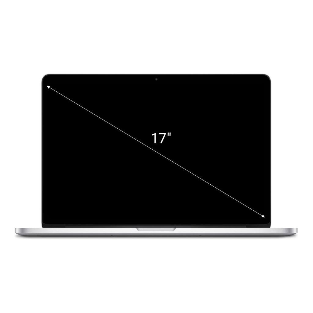 "Apple MacBook Pro 2011 17"" Intel Core i7 2.4 GHz 512 GB SSD 16 GB silber - sehr gut"