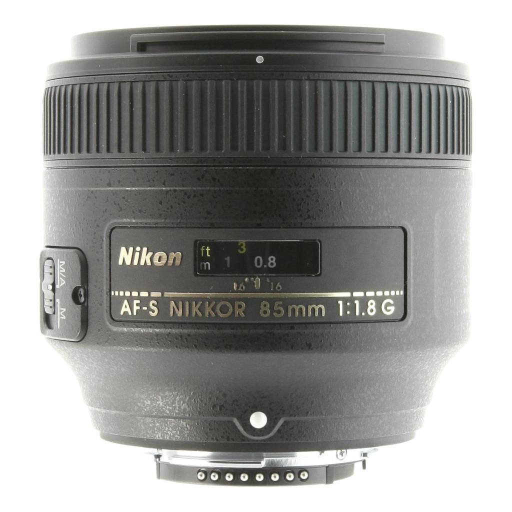 Nikon AF-S Nikkor 85mm 1:1.8G Schwarz - neu