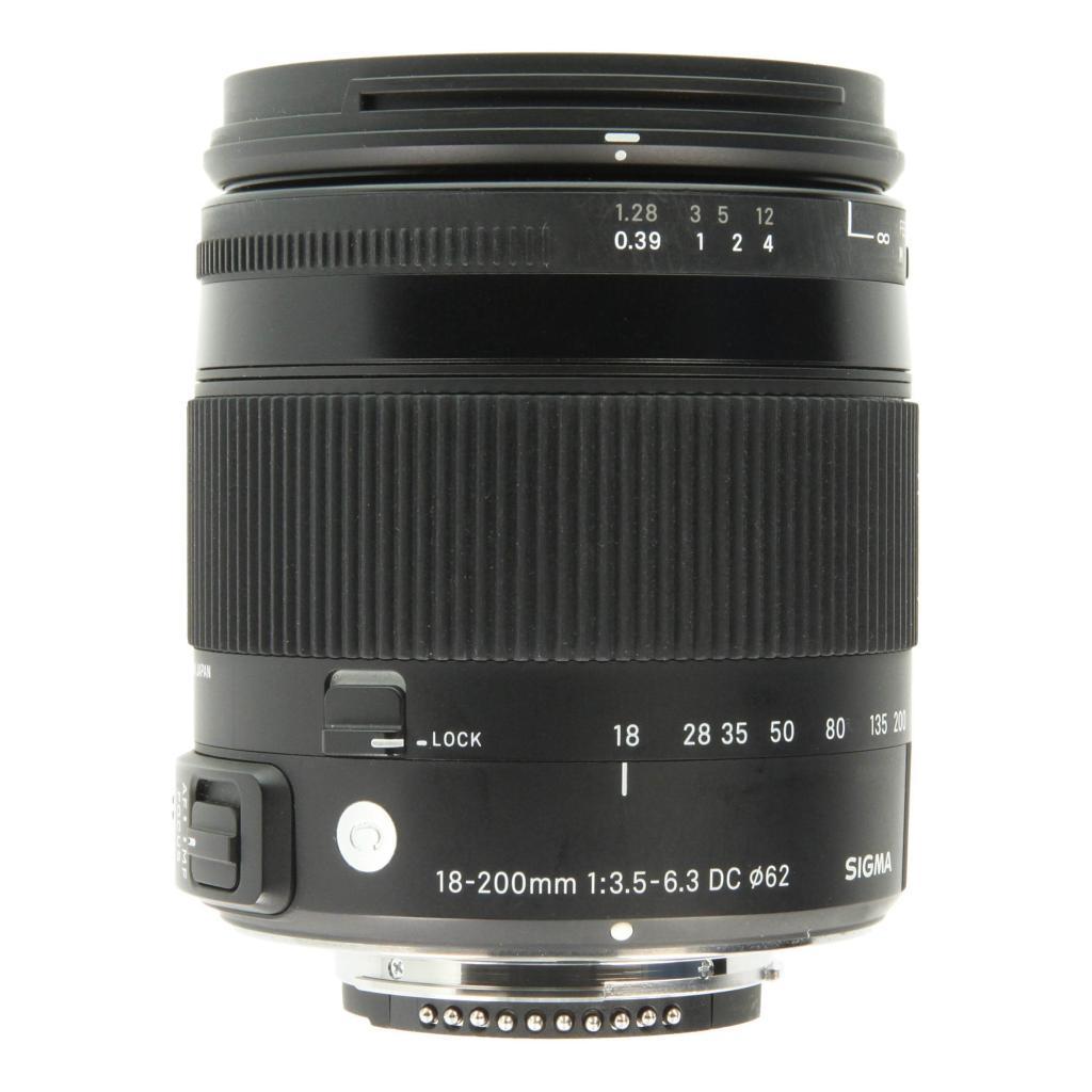 Sigma pour Nikon 18-200mm 1:3.5-6.3 DC OS HSM Contemporary noir - Neuf