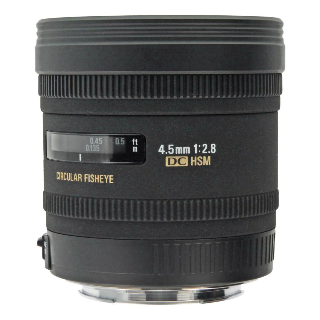 Sigma 4.5mm 1:2.8 AF EX DC HSM Zirkular Fisheye para Canon negro - nuevo