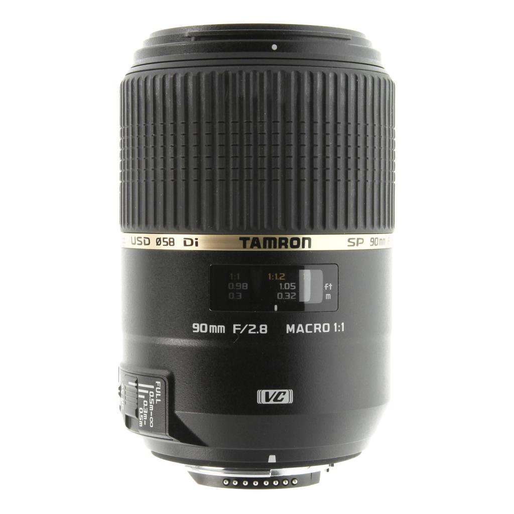 Tamron pour Nikon 90mm 1:2.8 AF SP Di VC USD Macro 1:1 noir - Neuf