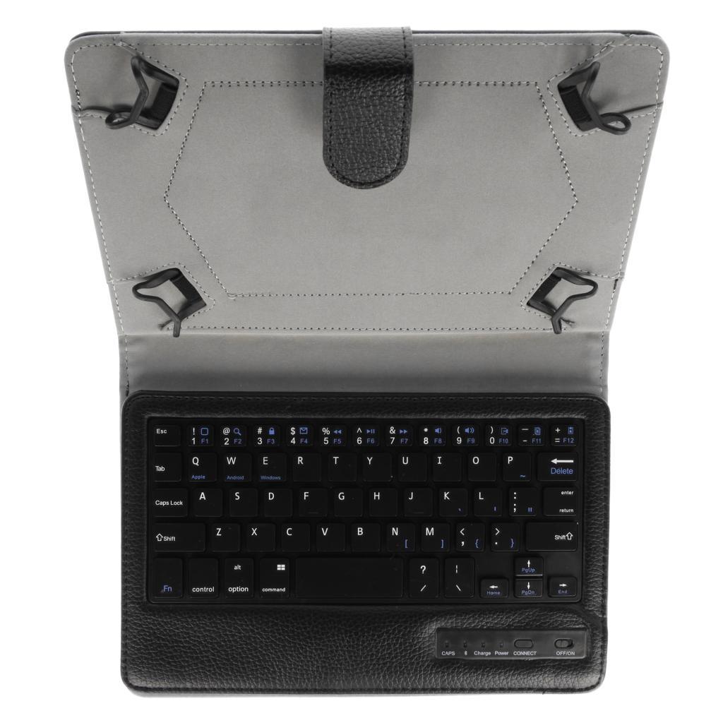kwmobile Universal Kunstlederhülle mit Bluetooth Keyboard QWERTY für Apple iPad Mini schwarz - neu