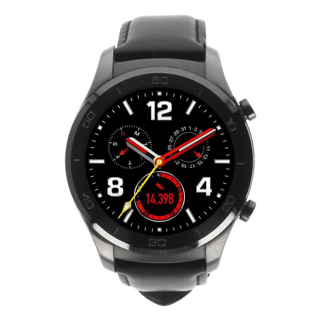 Huawei Watch 2 classic gris avec bracelet en cuir noir gris - Neuf