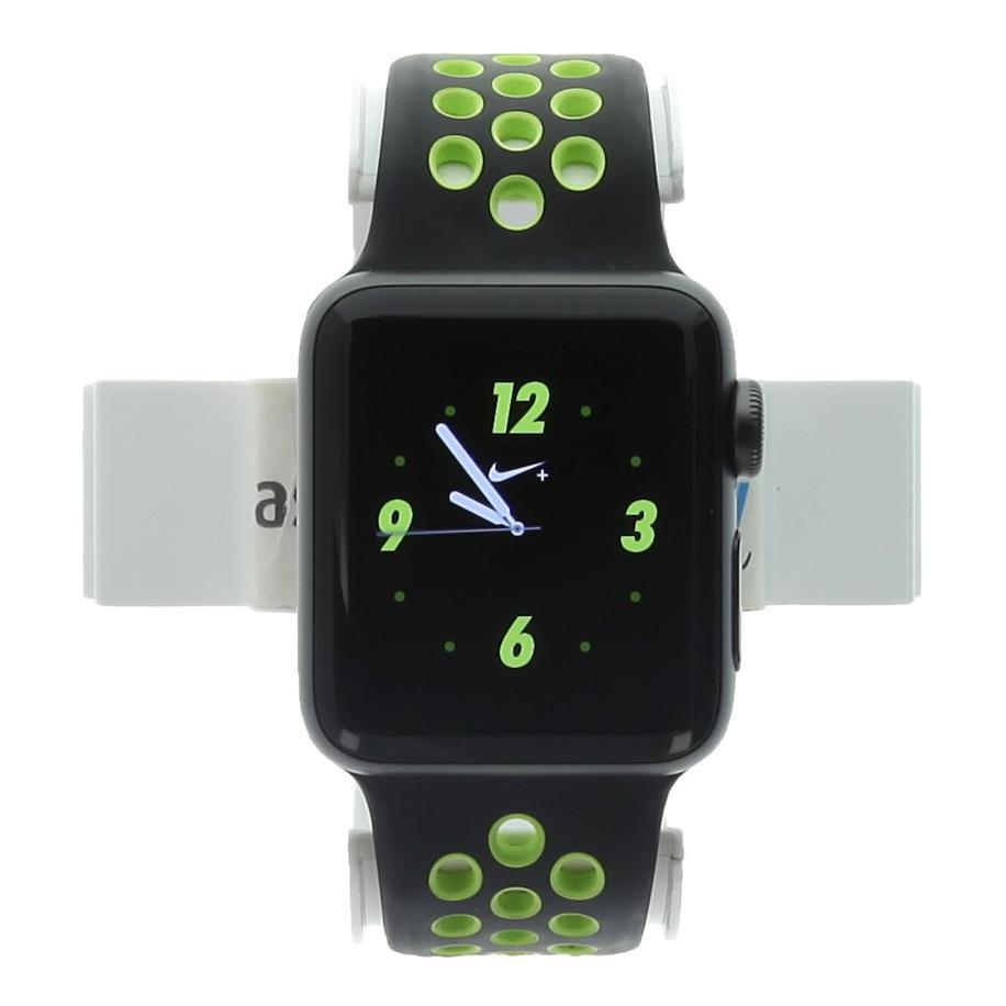 Apple Watch Series 2 aluminio gris oscuro 38mm con Nike+ pulsera deportiva negro/volt aluminio gris oscuro - nuevo