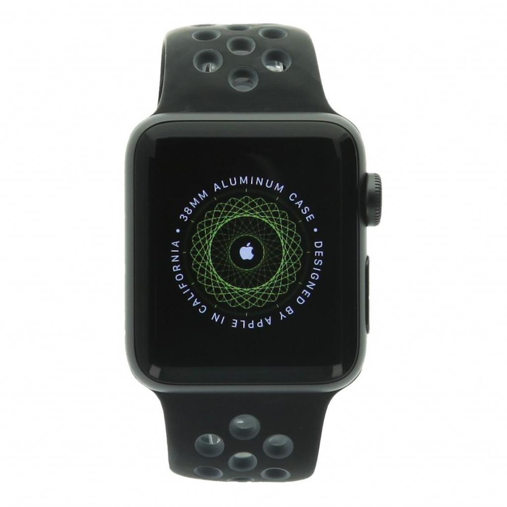 Apple Watch Series 2 aluminio gris oscuro 38mm con Nike+ pulsera deportiva negro/gris aluminio gris oscuro - nuevo