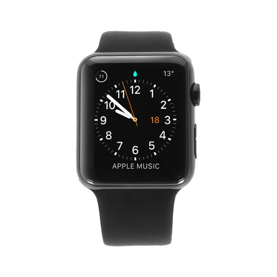Apple Watch Series 1 Edelstahlgehäuse schwarz 42mm mit Sportarmband schwarz edelstahl spaceschwarz - neu