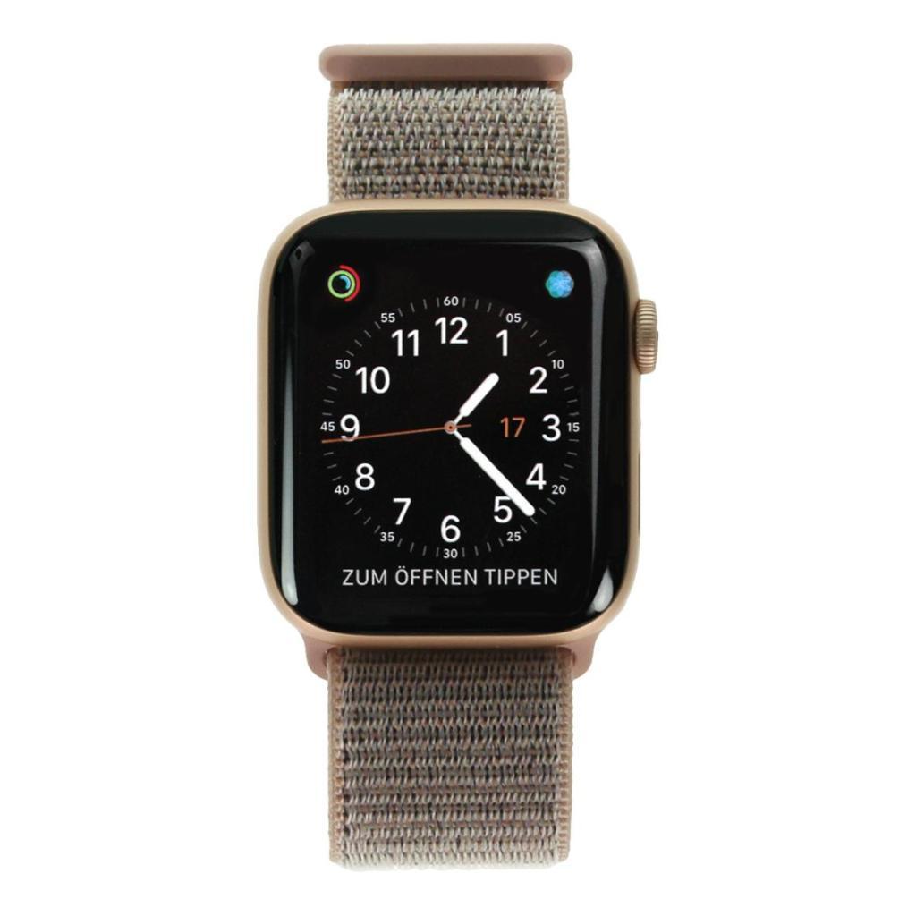Apple Watch Series 4 Aluminiumgehäuse gold 44mm mit Sport Loop sandrosa (GPS Cellular) aluminium gold