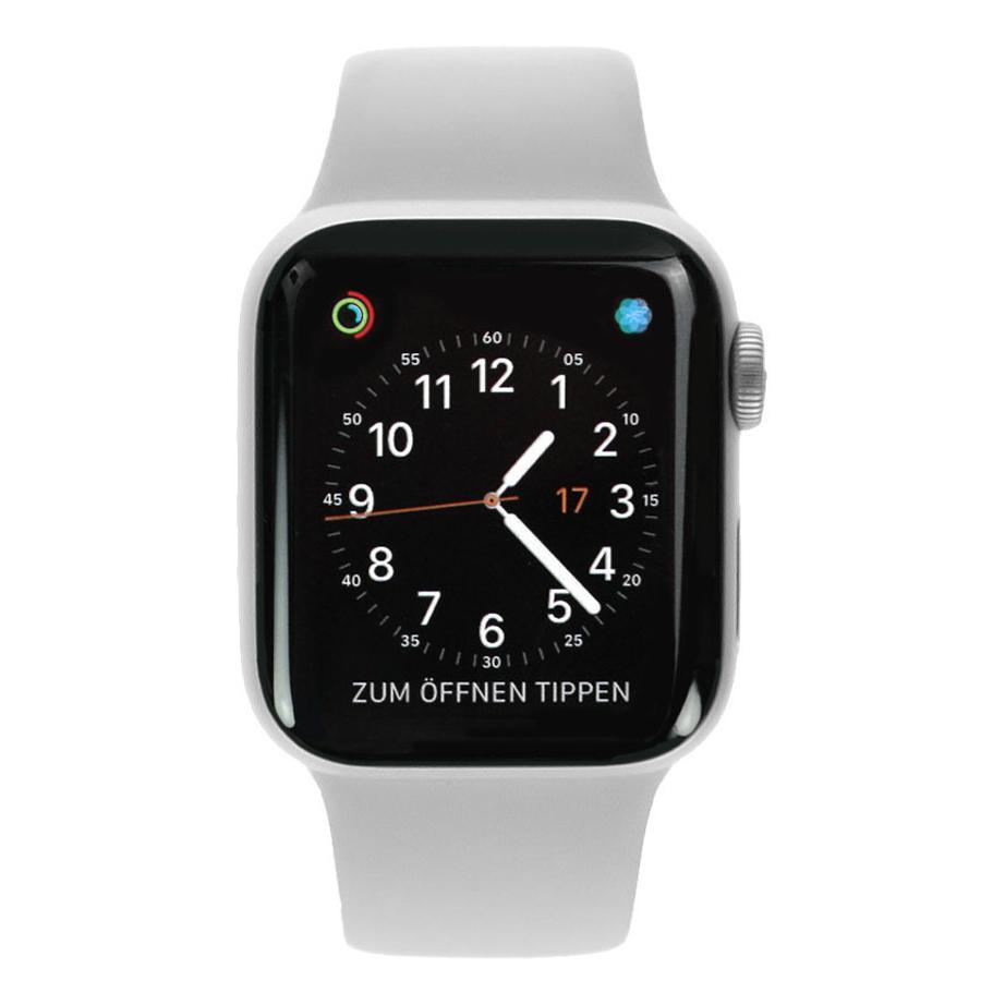 Apple Watch Series 4 Aluminiumgehäuse silber 40mm mit Sportarmband weiß (GPS+Cellular) aluminium silber - neu