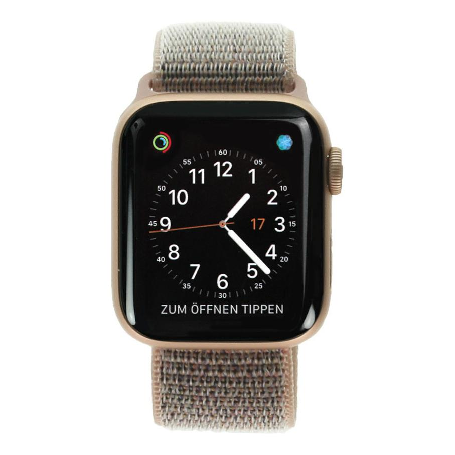Apple Watch Series 4 Aluminiumgehäuse gold 40mm mit Sport Loop sandrosa (GPS Cellular) aluminium gold