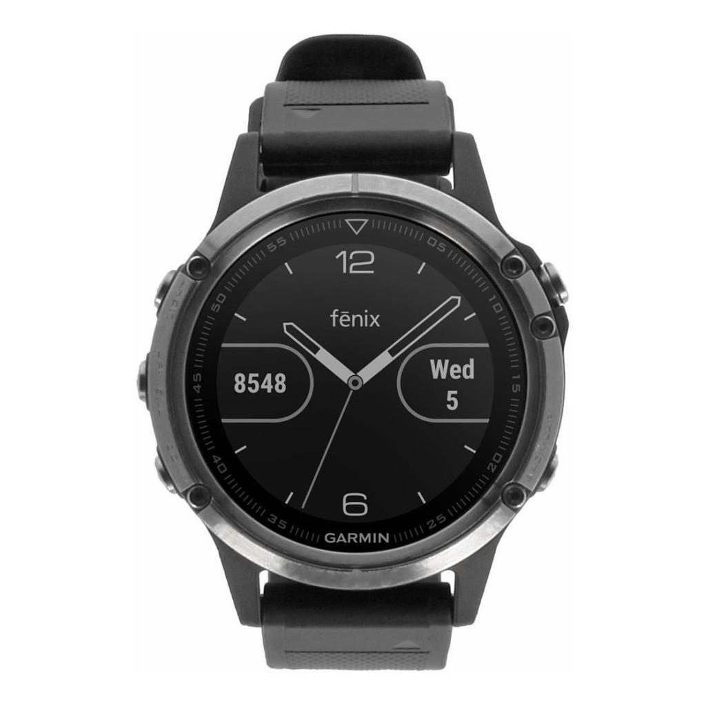 Garmin Fenix 5 Plus plateado/negro (010-01988-11) plateado/negro - nuevo