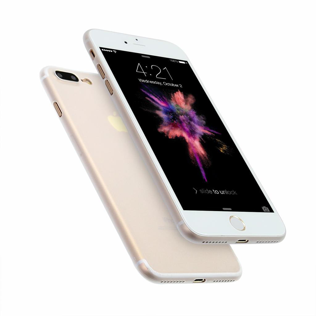 Hard Case für Apple iPhone 7 Plus / 8 Plus -ID16993 weiß/durchsichtig - neu