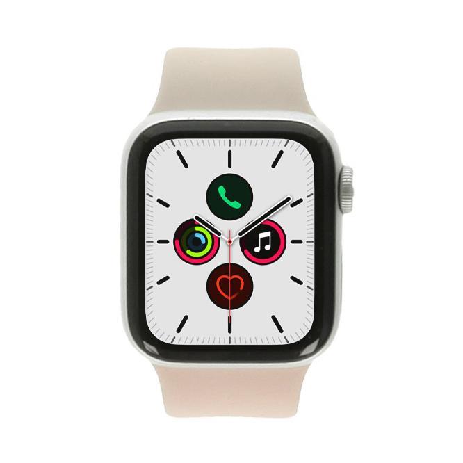 Apple Watch Series 5 aluminio plateado 40mm con pulsera deportiva blanco (GPS) plateado - nuevo