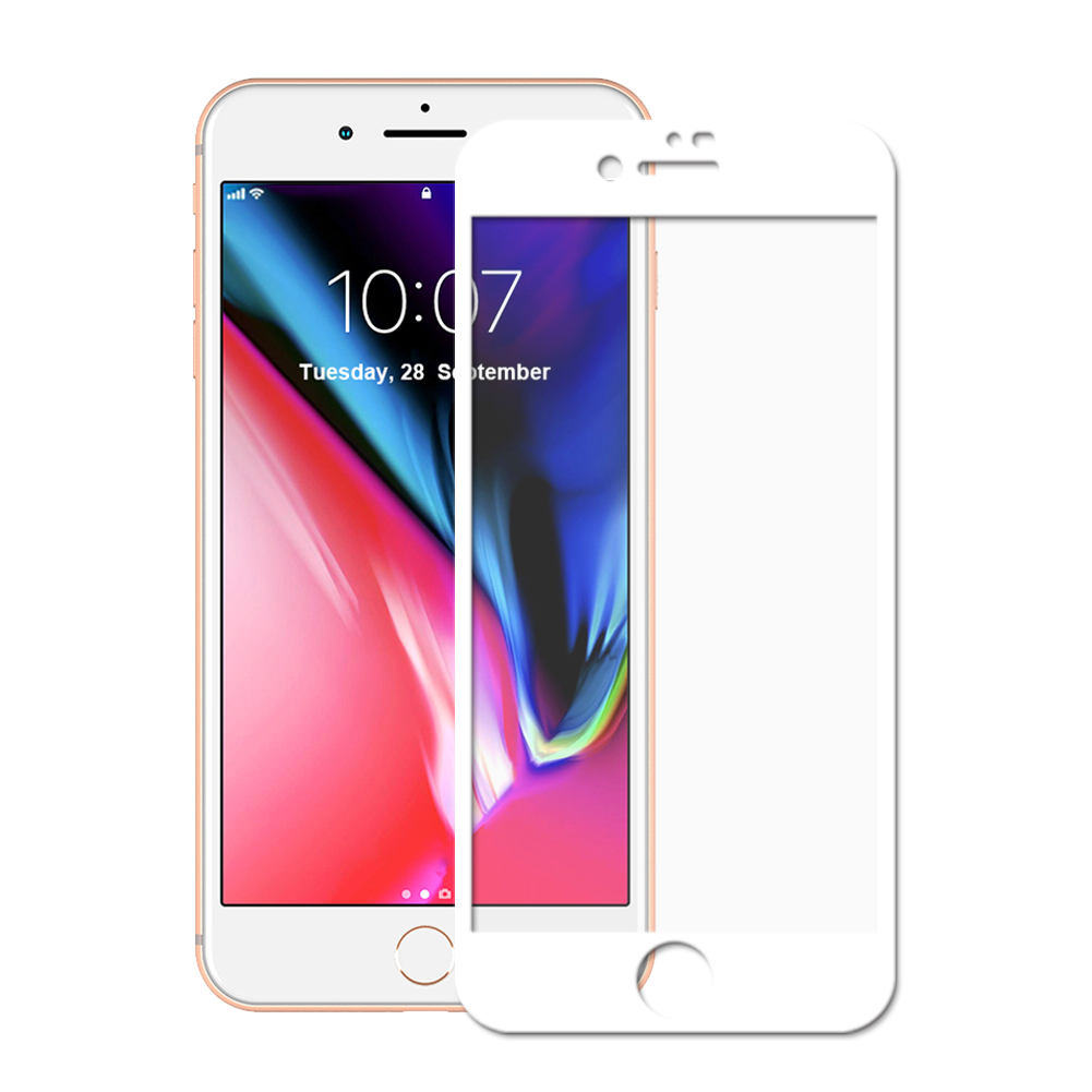 Panzerglas für Apple iPhone 7 Plus / 8 Plus -ID17109 weiß - gut