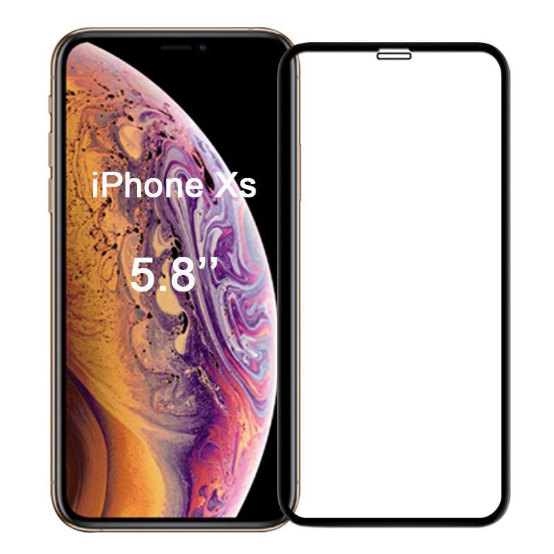 Ultra Panzerglas  für Apple iPhone X / XS -ID17125 schwarz - neu