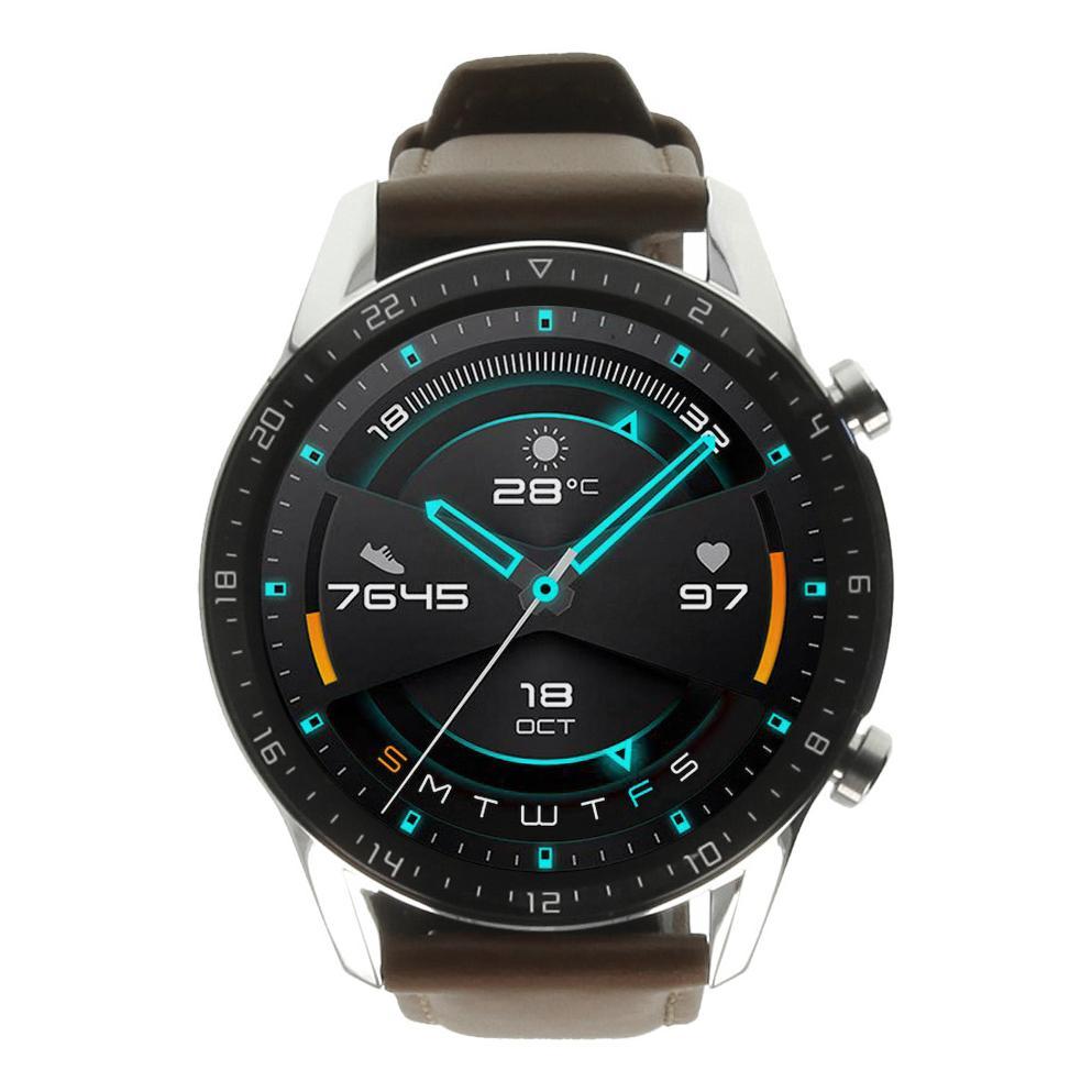 Huawei Watch GT2 acero inoxidable marrón con pulsera de cuero marrón - nuevo