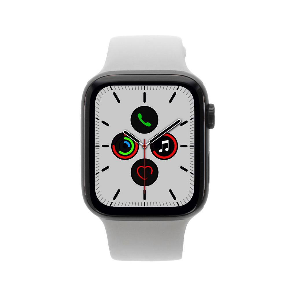 Apple Watch Series 5 - boîtier en aluminium gris 44mm - boucle sport gris d'ancre (GPS+Cellular) - Bon