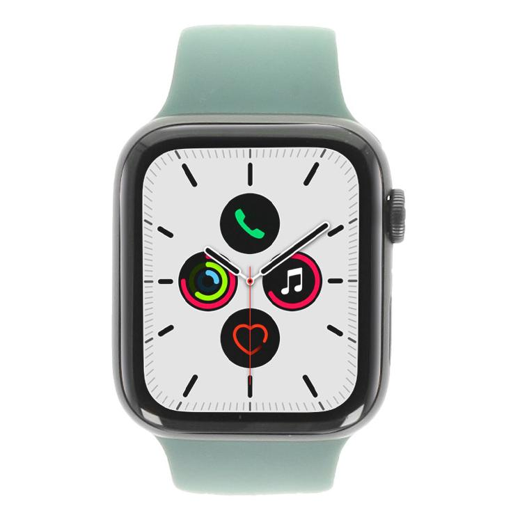 Apple Watch Series 5 Aluminiumgehäuse grau 44mm mit Sportarmband piniengrün (GPS + Cellular) piniengrün - neu