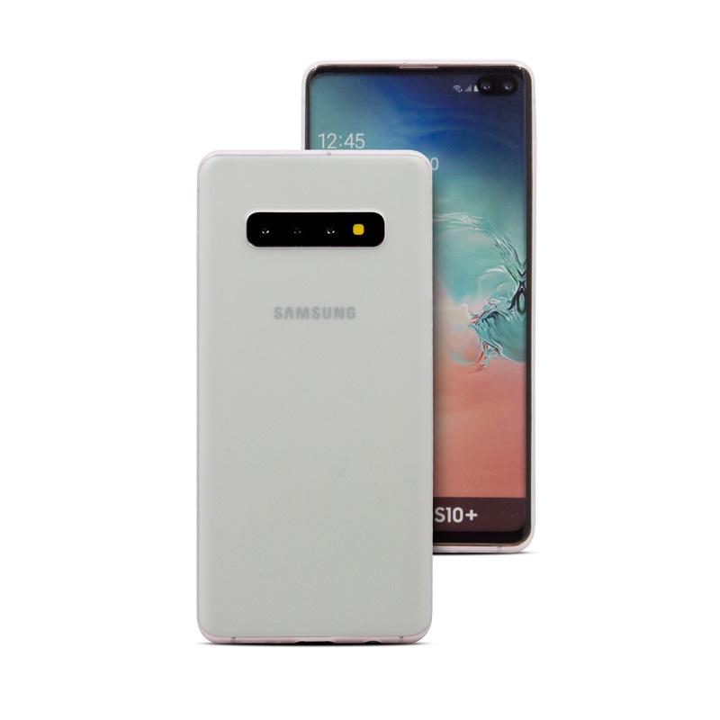 Hard Case für Samsung Galaxy S10 Plus -ID17526 weiß/durchsichtig - neu