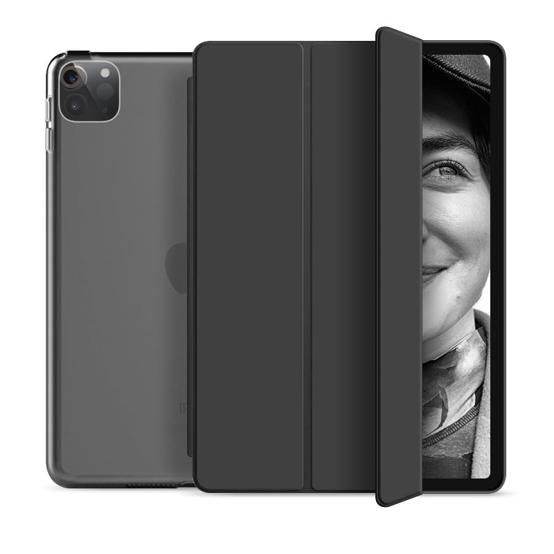 """Flip Cover für Apple iPad Pro 2020 12,9"""" -ID17984 schwarz/durchsichtig - neu"""
