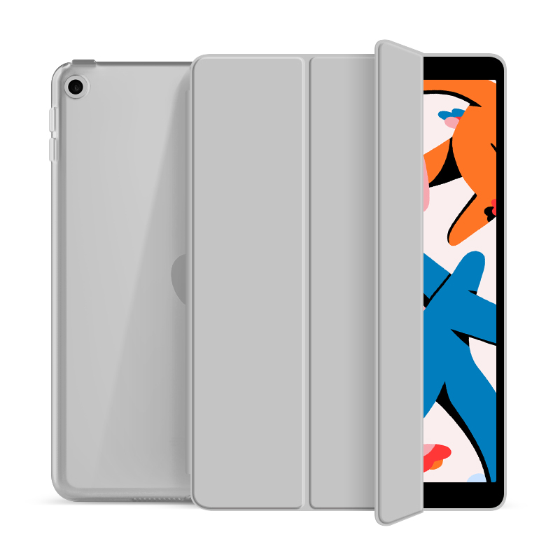 "Flip Cover für Apple iPad 2019/2020 10,2"" -ID17985 grau/durchsichtig - neu"